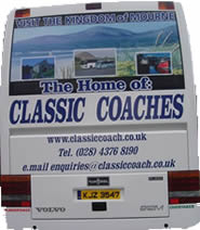Classic Coaches range of luxury cooaches ready for your travel needs - just an email or call away