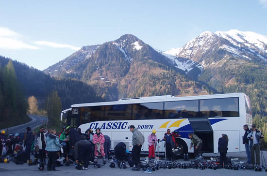 Classic Coach on Ski Trip to Austria